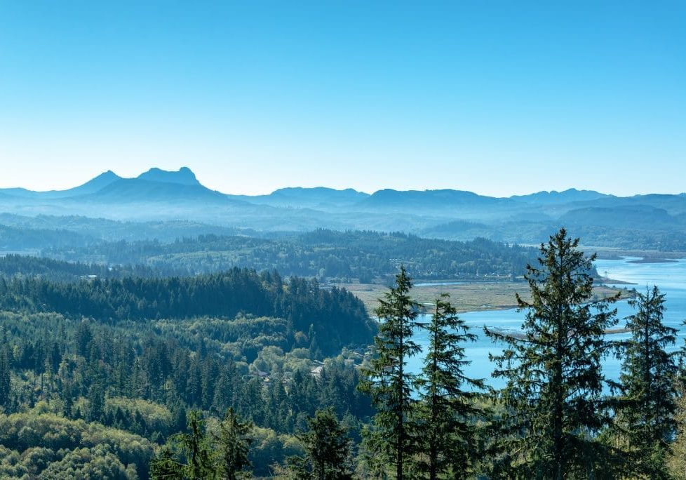 Beautiful View Near The Oregon Coast As Seen From The Astoria Co