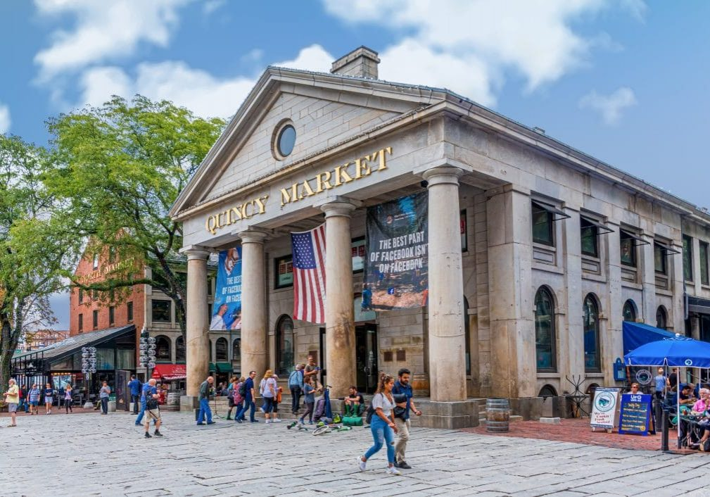 BOSTON, MASSACHUSETTS - September 11, 2018: Boston is one of the oldest cities in the States and is rich in history. This brings in a huge tourism industry to pubs, restaurants and historic sites.