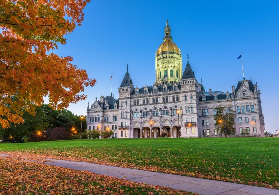 Connecticut State Capitol in Hartford, Connecticut, USA during a