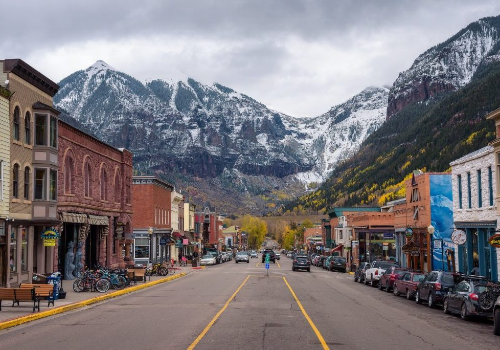 Telluride, Colorado, Usa - October 14, 2018 : Colorado Avenue In