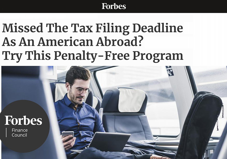 Forbes | Missed The Tax Filing Deadline As An American Abroad?