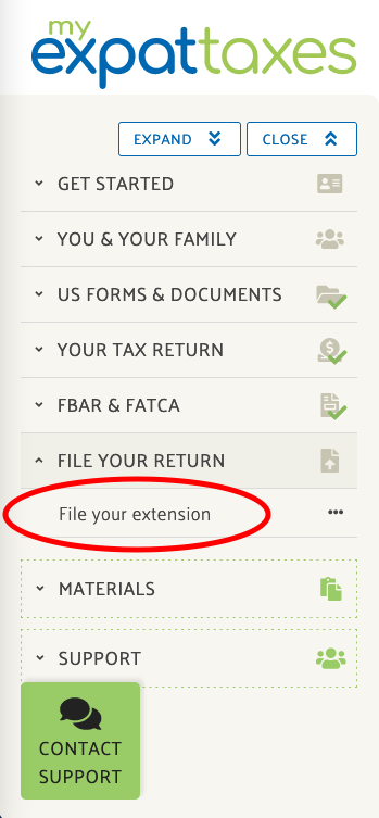 myexpattaxes file free extension
