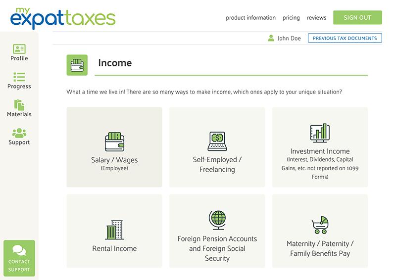 MyExpatTaxes screenshot