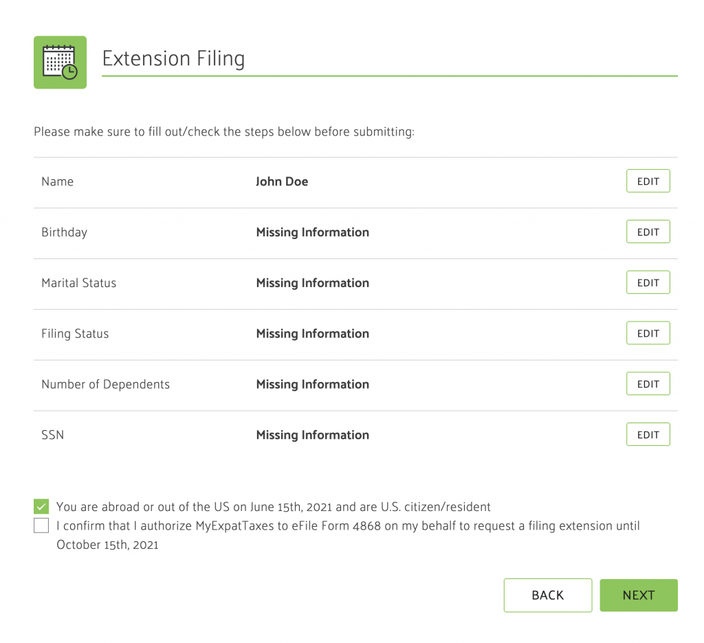 file free extension for irs
